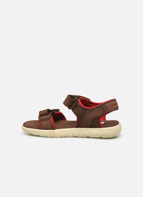 Sandales et nu-pieds Timberland Nubble Leather And Fabric 2-Strap Rebotl Marron vue face