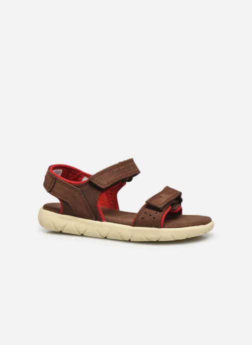 Sandales et nu-pieds Timberland Nubble Leather And Fabric 2-Strap Rebotl Marron vue derrière