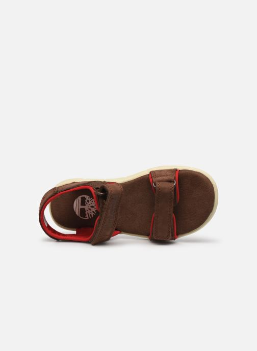 Sandales et nu-pieds Timberland Nubble Leather And Fabric 2-Strap Rebotl Marron vue gauche