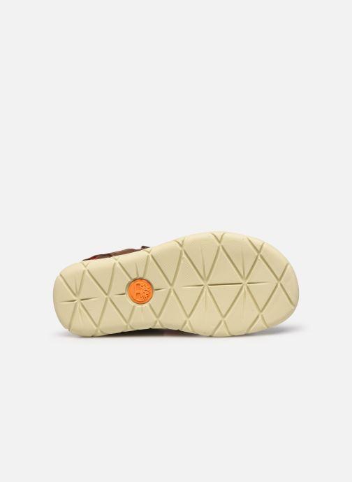 Sandales et nu-pieds Timberland Nubble Leather And Fabric 2-Strap Rebotl Marron vue haut