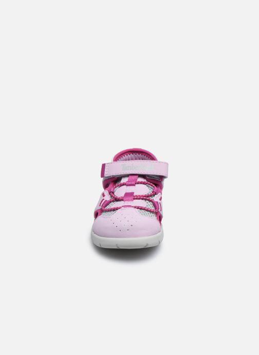 Sandales et nu-pieds Timberland Perkins Row Fisherman Rebotl Rose vue portées chaussures
