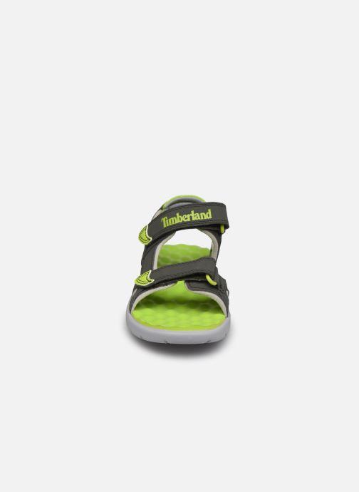 Sandalen Timberland Perkins Row Strap Sandal Rebotl grau schuhe getragen