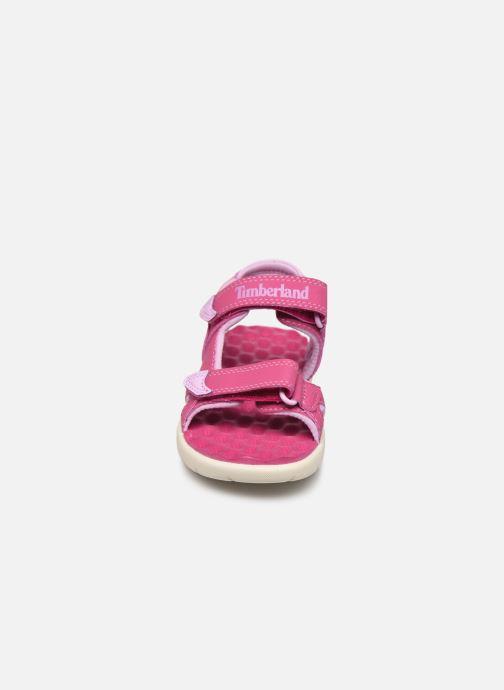 Sandalen Timberland Perkins Row Strap Sandal Rebotl rosa schuhe getragen