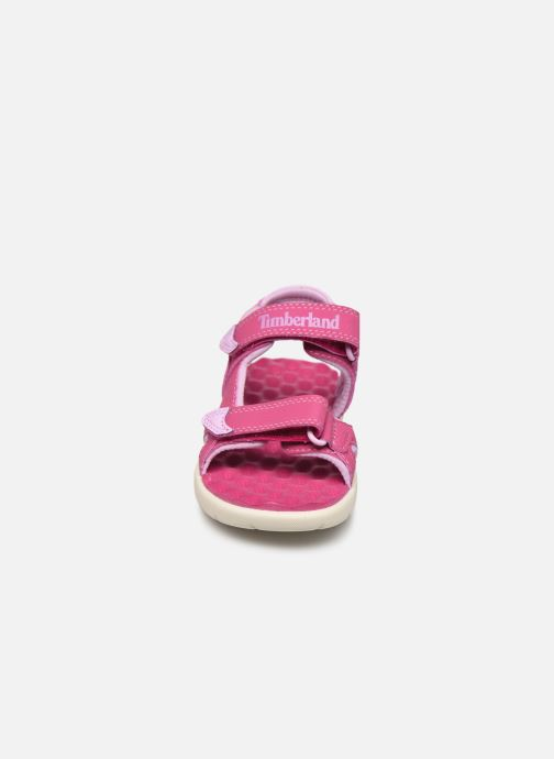 Sandali e scarpe aperte Timberland Perkins Row Strap Sandal Rebotl Rosa modello indossato