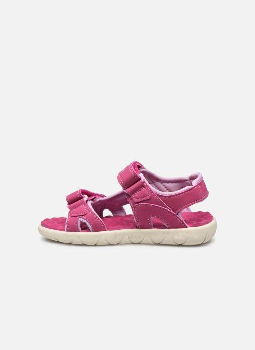 Sandales et nu-pieds Timberland Perkins Row Strap Sandal Rebotl Rose vue face