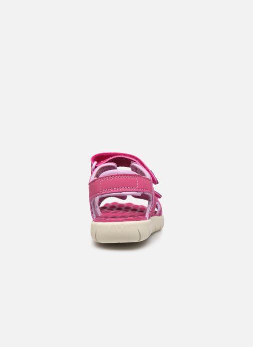 Sandales et nu-pieds Timberland Perkins Row Strap Sandal Rebotl Rose vue droite