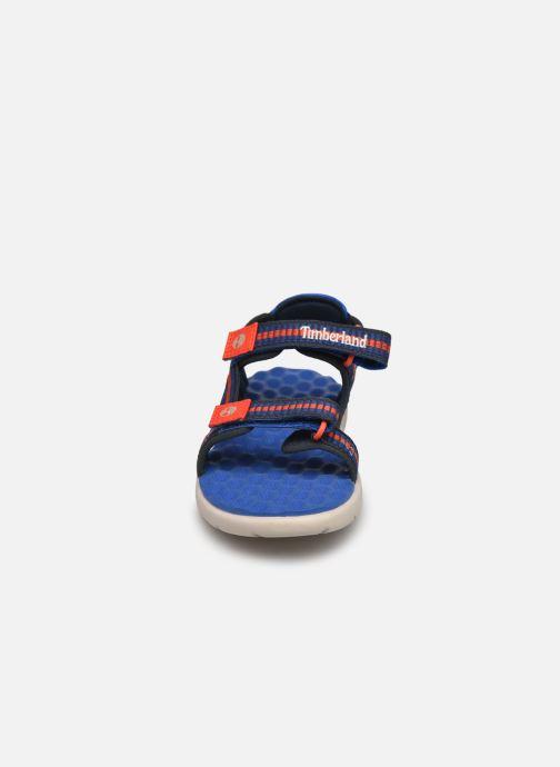 Sandales et nu-pieds Timberland Perkins Row Sandal Rebotl Bleu vue portées chaussures