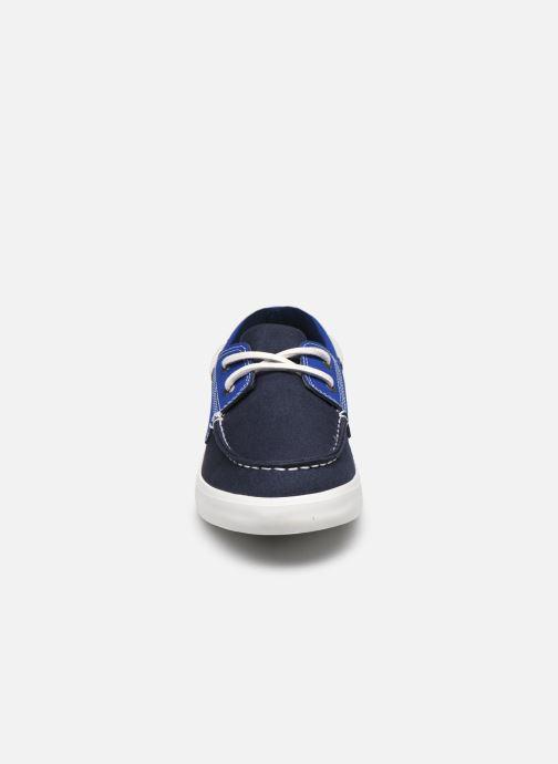 Zapatos con cordones Timberland Newport Bay Boat Shoe Azul vista del modelo