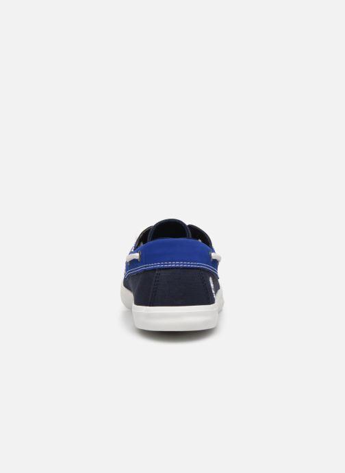 Zapatos con cordones Timberland Newport Bay Boat Shoe Azul vista lateral derecha