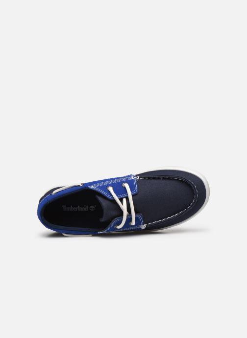 Zapatos con cordones Timberland Newport Bay Boat Shoe Azul vista lateral izquierda