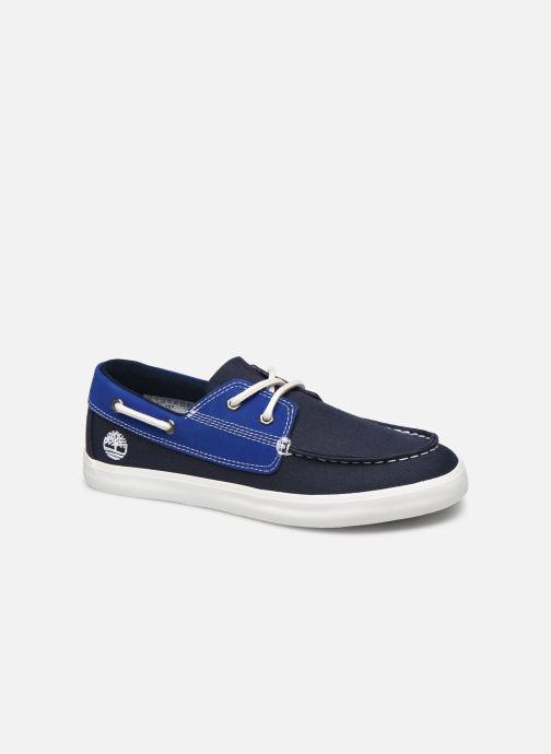 Zapatos con cordones Timberland Newport Bay Boat Shoe Azul vista de detalle / par