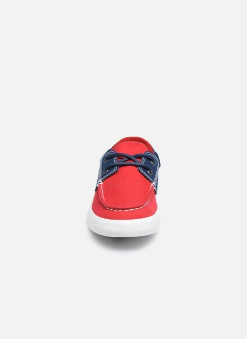 Chaussures à lacets Timberland Newport Bay Boat Shoe Rouge vue portées chaussures