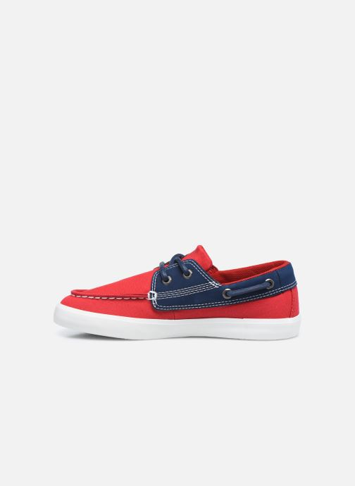 Chaussures à lacets Timberland Newport Bay Boat Shoe Rouge vue face