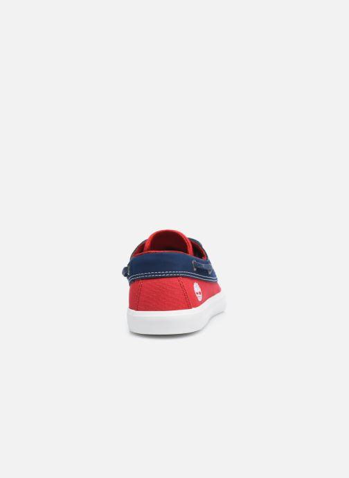 Zapatos con cordones Timberland Newport Bay Boat Shoe Rojo vista lateral derecha