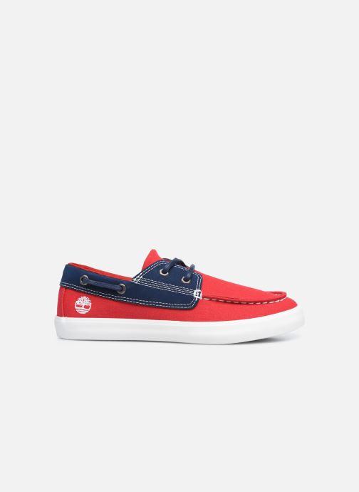 Zapatos con cordones Timberland Newport Bay Boat Shoe Rojo vistra trasera