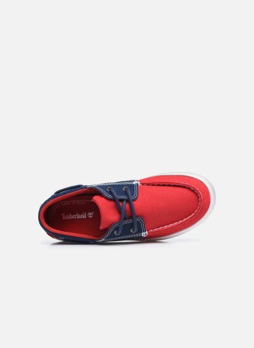Zapatos con cordones Timberland Newport Bay Boat Shoe Rojo vista lateral izquierda