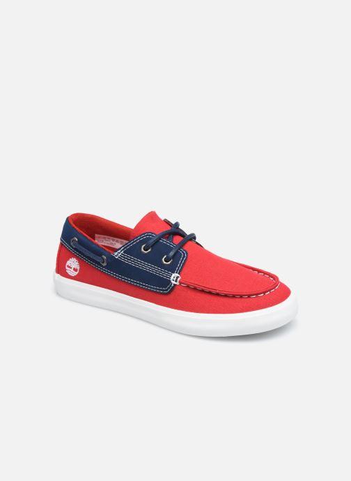 Chaussures à lacets Timberland Newport Bay Boat Shoe Rouge vue détail/paire