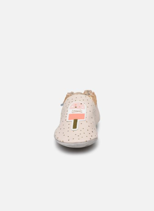 Chaussons Robeez Water Ice Beige vue portées chaussures