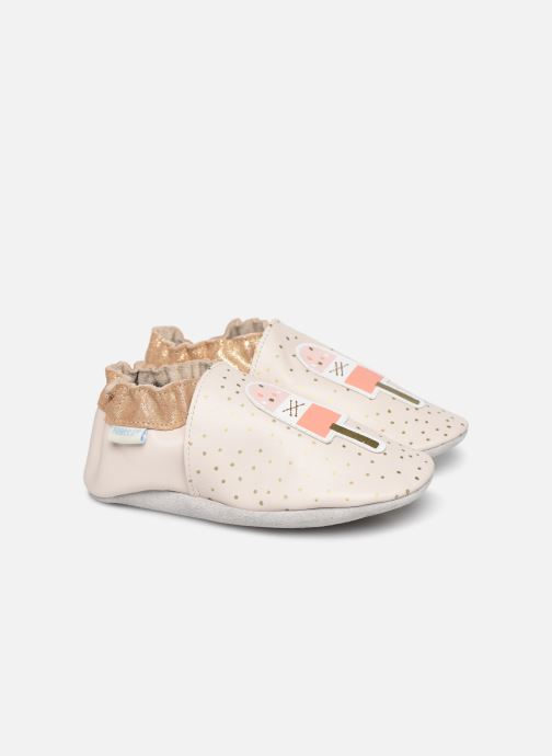 Chaussons Robeez Water Ice Beige vue détail/paire