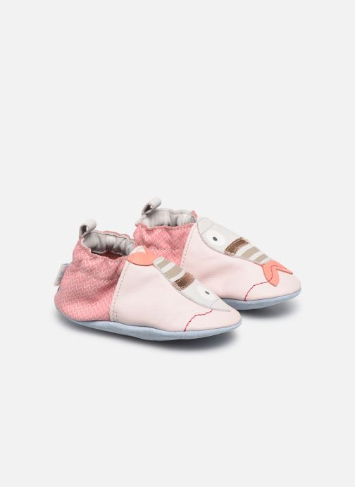 Chaussons Robeez Fishy Rose vue 3/4