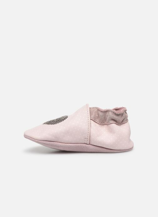 Chaussons Robeez Shining Heart Rose vue face