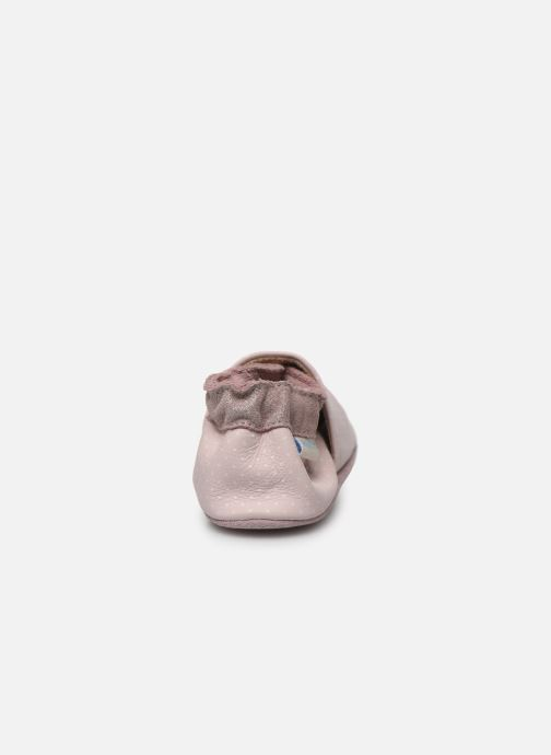 Chaussons Robeez Shining Heart Rose vue droite