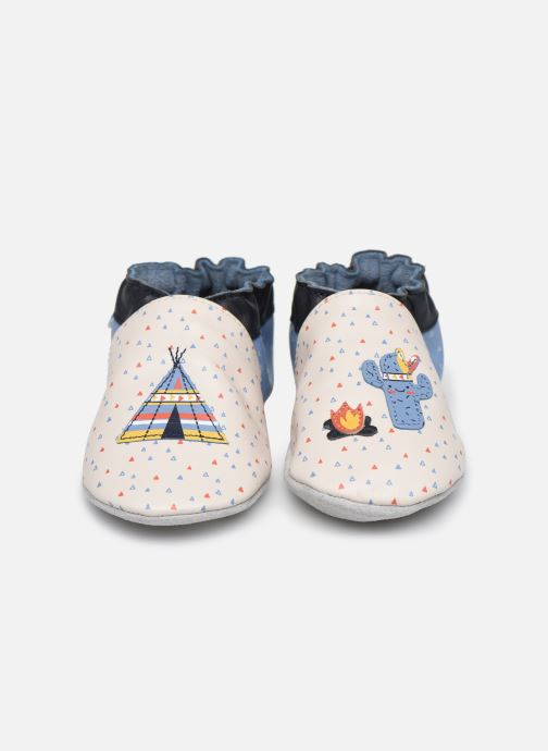 Chaussons Robeez Tipi Beige vue portées chaussures