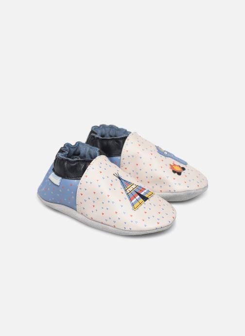 Hjemmesko Robeez Tipi Beige detaljeret billede af skoene