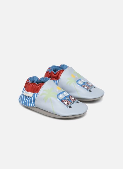 Slippers Robeez Road Trip Blue detailed view/ Pair view