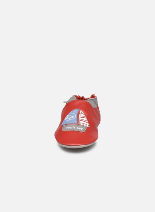 Chaussons Robeez Pirate Ship Rouge vue portées chaussures