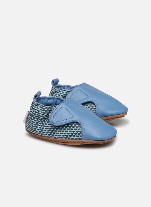 Hjemmesko Robeez Kalipso Blå detaljeret billede af skoene