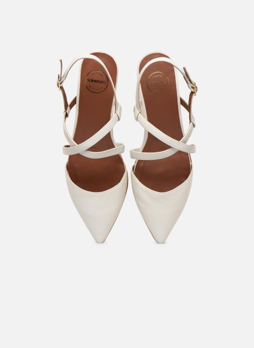 Ballerines Made by SARENZA Africa Vibes Ballerines #1 Blanc vue portées chaussures