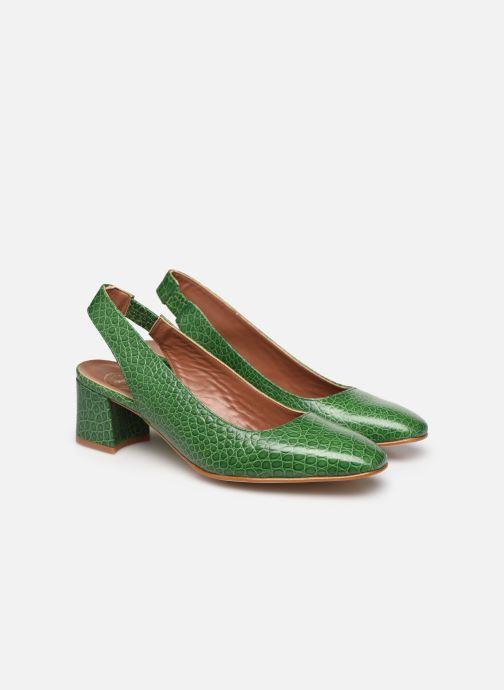 Zapatos de tacón Made by SARENZA South Village Escarpin #3 Verde vistra trasera