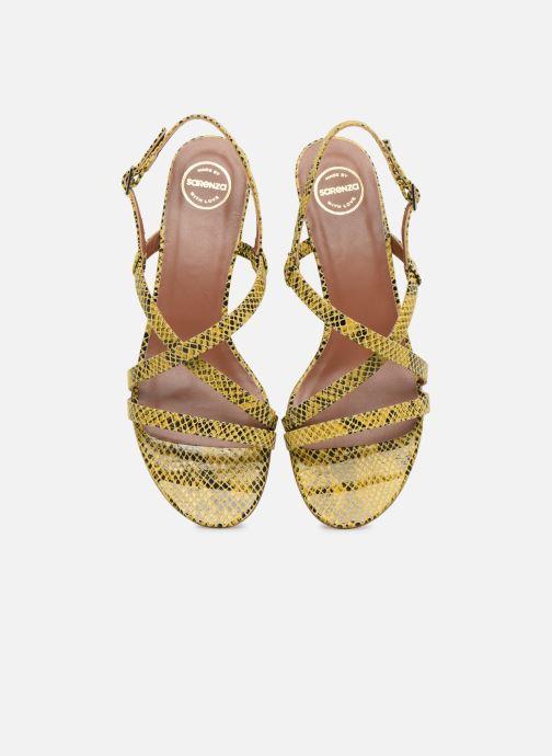 Sandales et nu-pieds Made by SARENZA Africa Vibes Sandales plates #1 Jaune vue portées chaussures