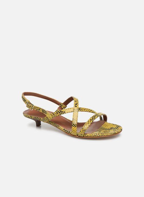 Sandales et nu-pieds Made by SARENZA Africa Vibes Sandales plates #1 Jaune vue droite