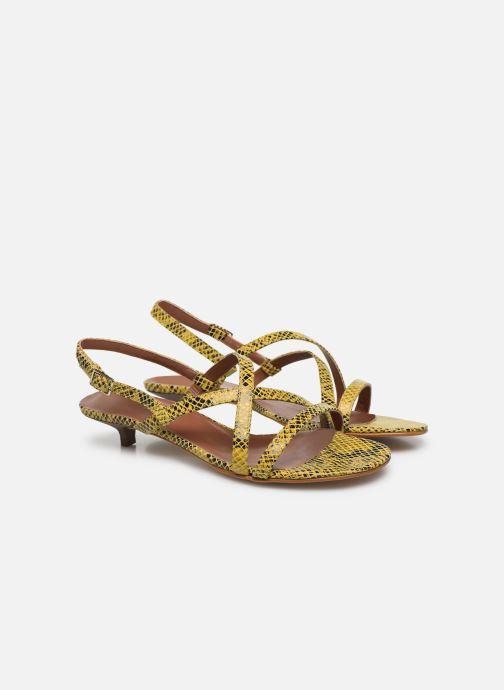 Sandales et nu-pieds Made by SARENZA Africa Vibes Sandales plates #1 Jaune vue derrière