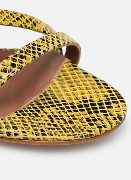 Sandales et nu-pieds Made by SARENZA Africa Vibes Sandales plates #1 Jaune vue gauche