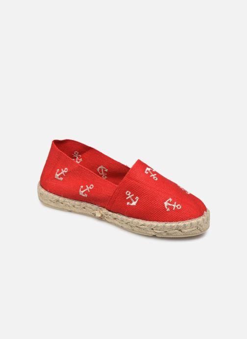 Espadrillos La maison de l'espadrille Sabline Ancre E Rød detaljeret billede af skoene