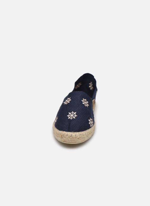Espadrilles La maison de l'espadrille Sabline Timon E Bleu vue portées chaussures