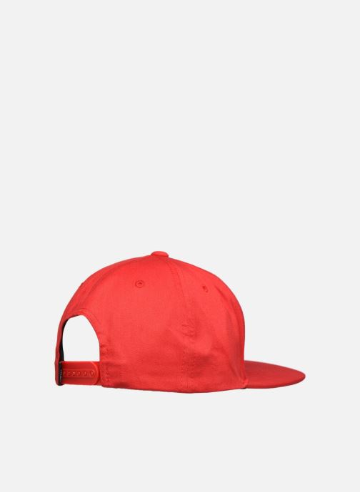 Cappellino Vans Casquette By Full Patch Snapback Boys Rosso modello indossato