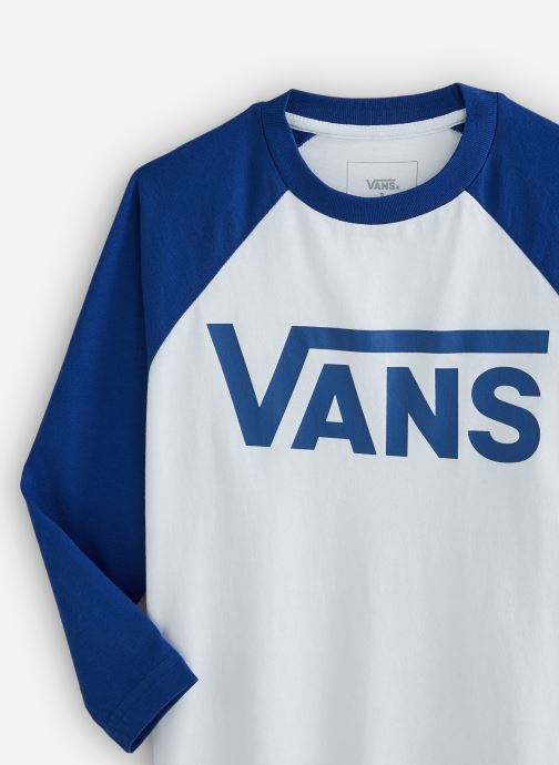 Vêtements Vans By Vans Classic Raglan Boys Blanc vue portées chaussures