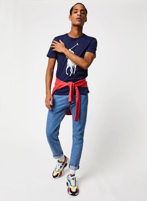Vêtements Polo Ralph Lauren T-Shirt Pony Bleu vue bas / vue portée sac