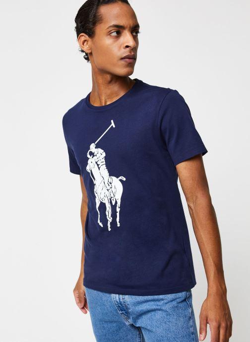 Vêtements Polo Ralph Lauren T-Shirt Pony Bleu vue droite