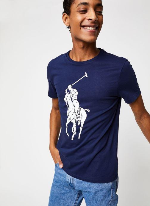 Vêtements Polo Ralph Lauren T-Shirt Pony Bleu vue détail/paire