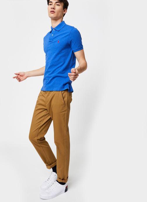 Grande Vente Polo Ralph Lauren Polo MC Basic Mesh Slim Pony Bleu Vêtements 430304 fsdjll12sod251DD Vêtements Homme