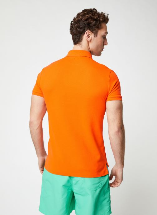 Kleding Polo Ralph Lauren Polo MC Basic Mesh Slim Pony Oranje model