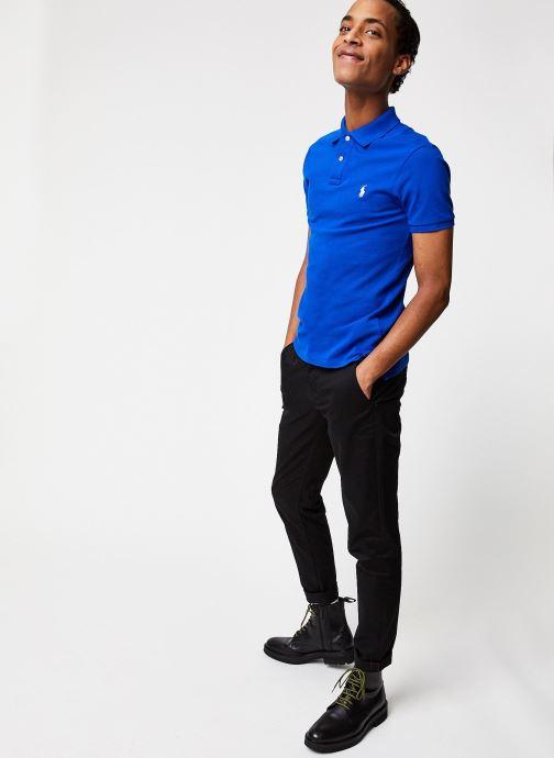 Vêtements Polo Ralph Lauren Polo MC Basic Mesh Slim Pony Bleu vue bas / vue portée sac
