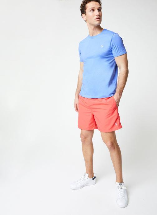 Vêtements Polo Ralph Lauren T-Shirt MC Jersey Custom Slim Bleu vue bas / vue portée sac
