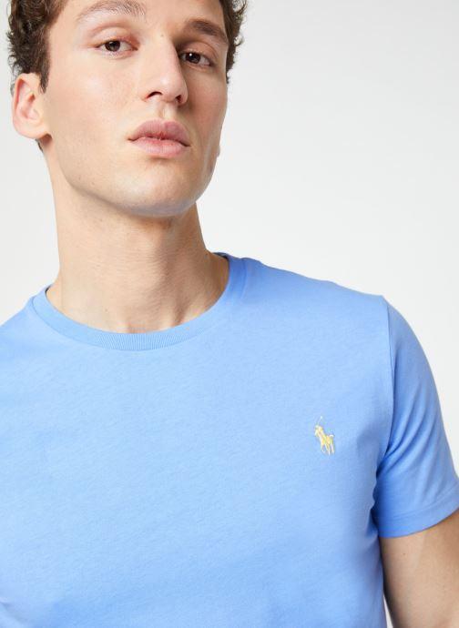 Vêtements Polo Ralph Lauren T-Shirt MC Jersey Custom Slim Bleu vue face