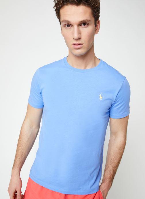 Vêtements Polo Ralph Lauren T-Shirt MC Jersey Custom Slim Bleu vue détail/paire